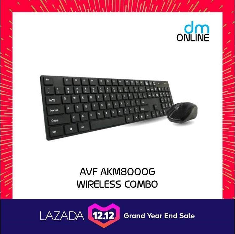 AVF COMBO 2.4Ghz Wireless Optical Mouse & Keyboard Combo Set (AKM8000G) Malaysia
