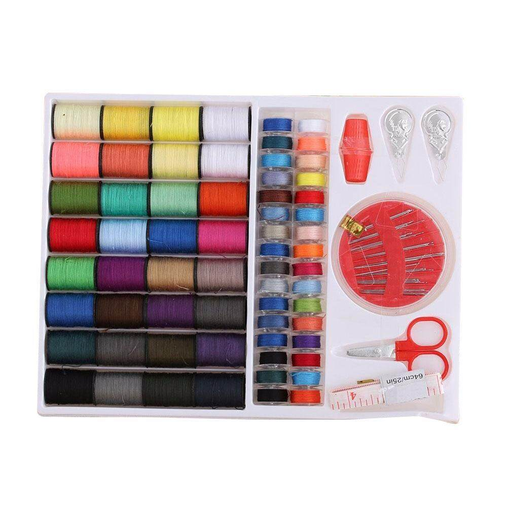 CZS 70pcs Mini Sewing Tools Kit Accessories Portable Travel Emergency Family Sewing Kit 64 Color Linear