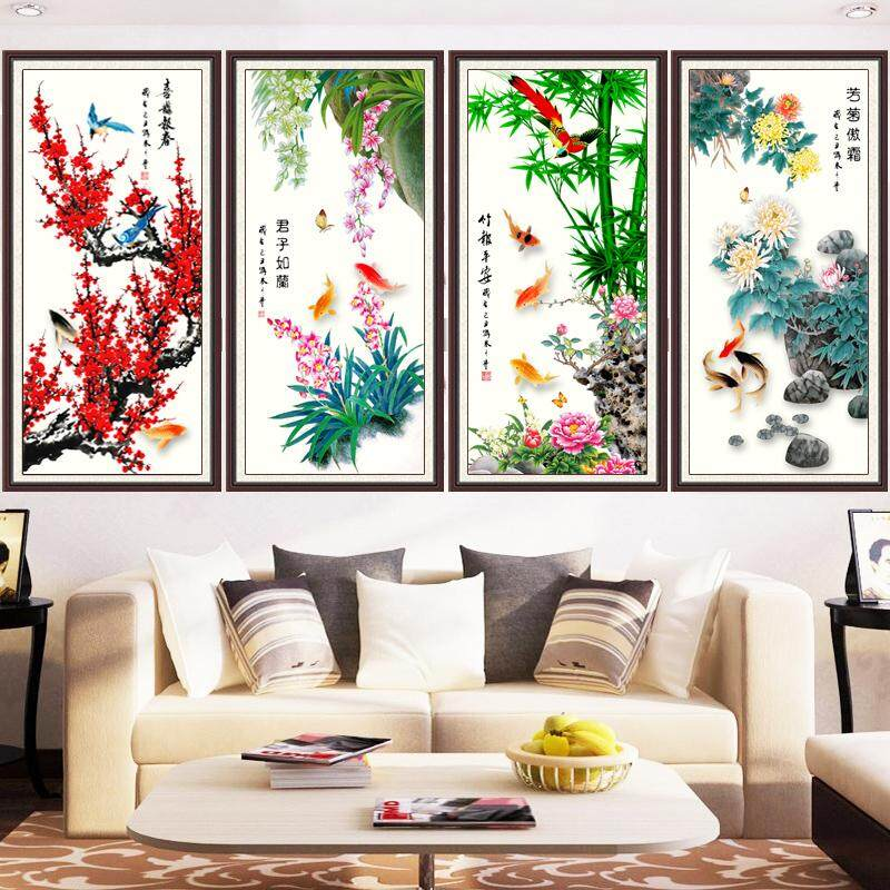 5D Special Shape Diamond Painting Full of Crystals Living Room SHiNY Handmade Point Tile Stone Cross-Stitch 2019 New Style Show Mei Lanzhu Chrysanthemum