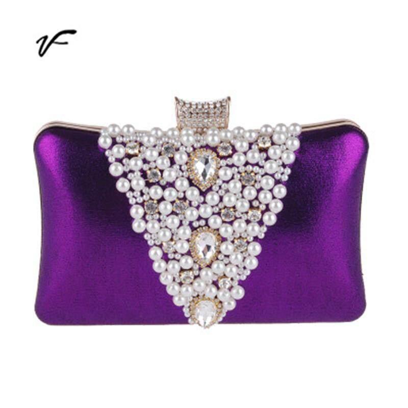 2019 Wedding Diamante Pearls Clutch Hand Bag Bridal Multi-purpose Purse Handbag For Dinner Party For Cheongsam