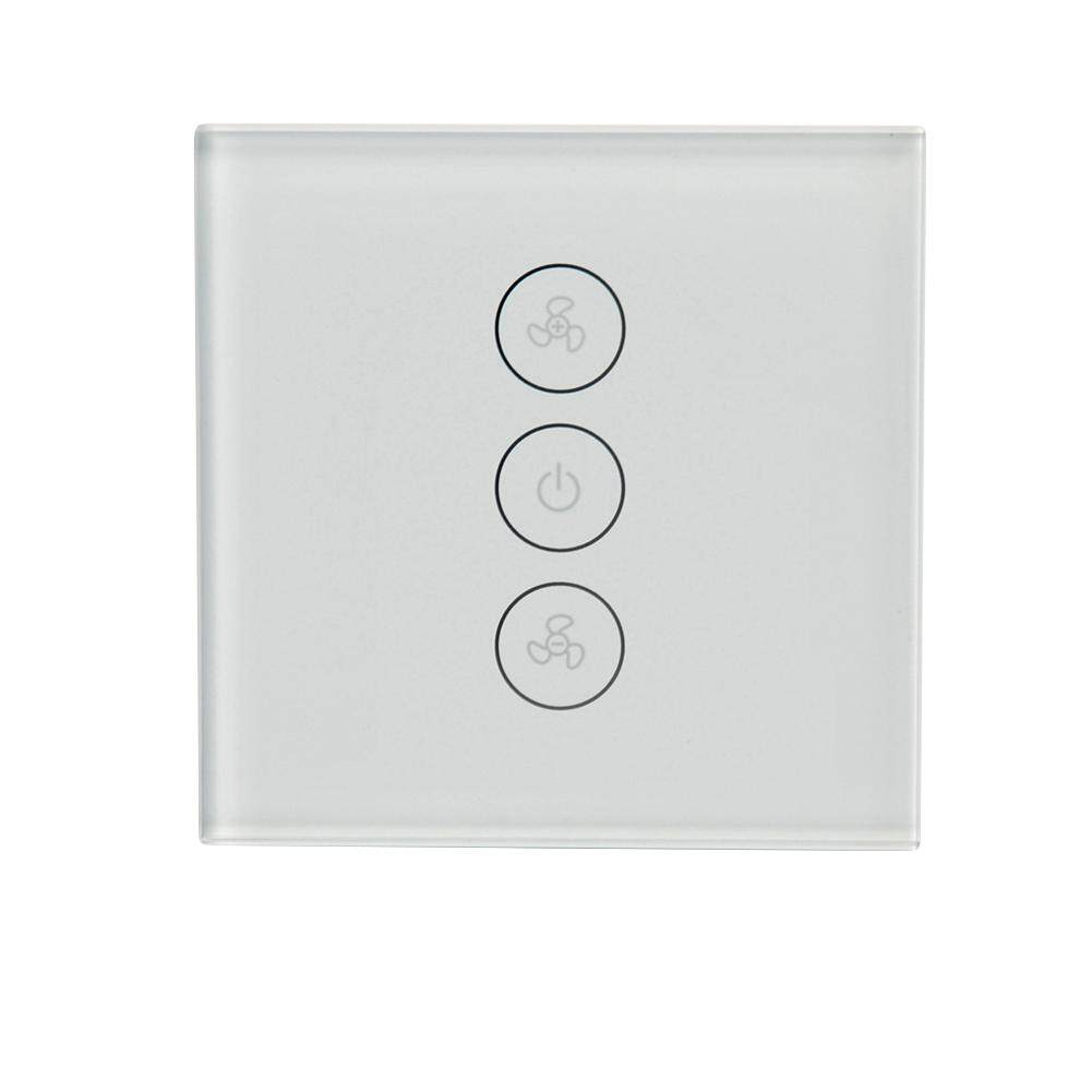 MG Wifi Smart Fan Controller Wall Switch Touch Panel for Alexa Voice Control European Regulation