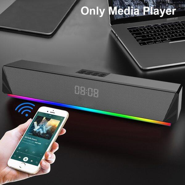 TV Remote Control RGB LED Display For PC Home Tablets Desktop Computer Bluetooth Sound Bar Speaker TF Card Support Smartphones Malaysia