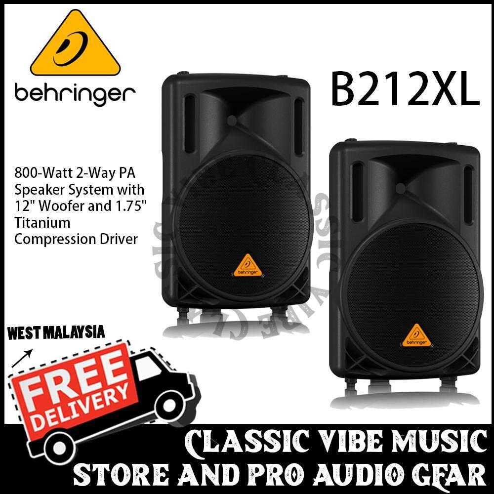 Behringer Eurolive B212XL 800W 12 Passive Speaker (Pair)