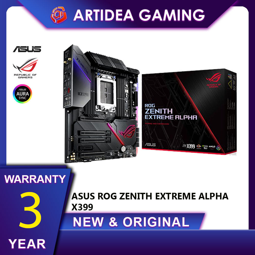 ^ ASUS ROG ZENITH EXTREME ALPHA X399 AMD TR4 SOCKET - 90MB10G0-M0UAY0