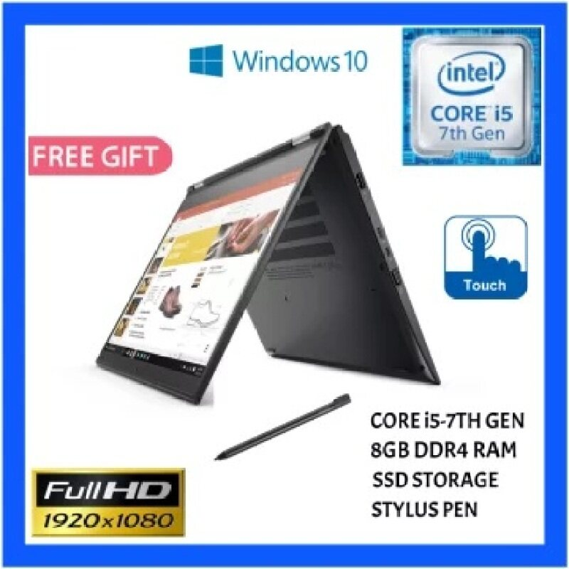 Lenovo ThinkPad Yoga 370 4G LTE/Core i5-7 gen /8GB RAM/256 GB SSD/13.3 Touch/Business convertible with Pen/Win10 Pro/3 Months Warranty Malaysia