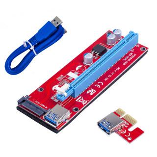 Xin Ver007S Bộ Mở Rộng Tốc Độ Cao USB 3.0 PCI-E 1X Đến 16X, Bộ Chuyển Đổi Thẻ Dành Cho GPU thumbnail