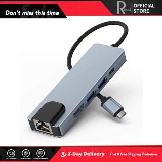 Bộ Chuyển Đổi Đa Cổng USB C Với Bộ Sạc PD USB3.0 Bộ Chuyển Đổi Mạng Ethernet RJ45 4 Khhdmi, Dành Cho Máy Tính Xách Tay MacBook Pro & Type C Windows thumbnail