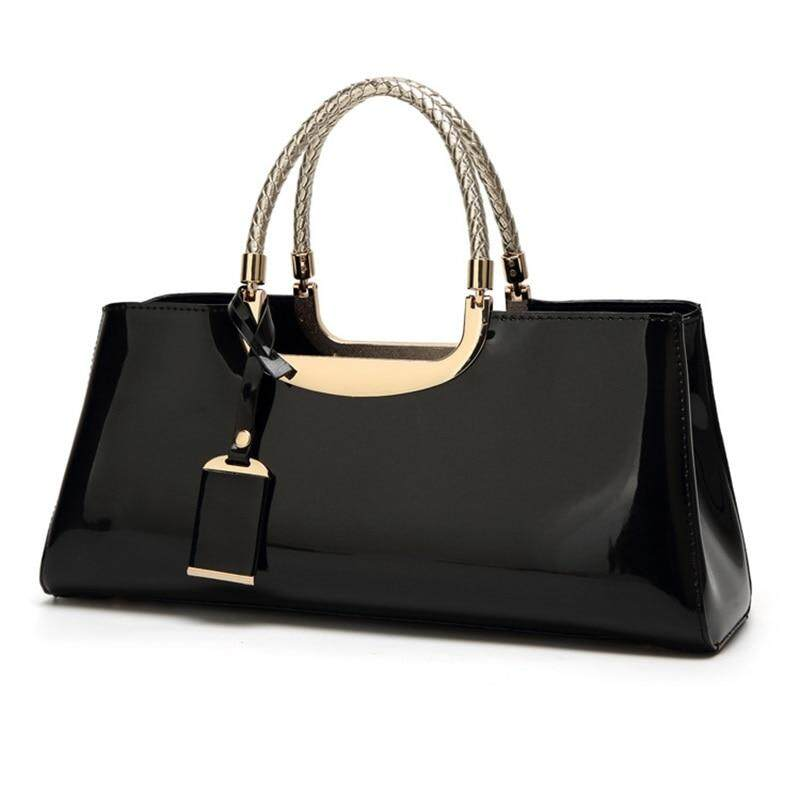 New 2019 Arsmundi Luxury Handbags Women Bags Designer Fashion Patent Leather Elegant Evening Formal Hand Bags For Wedding Party