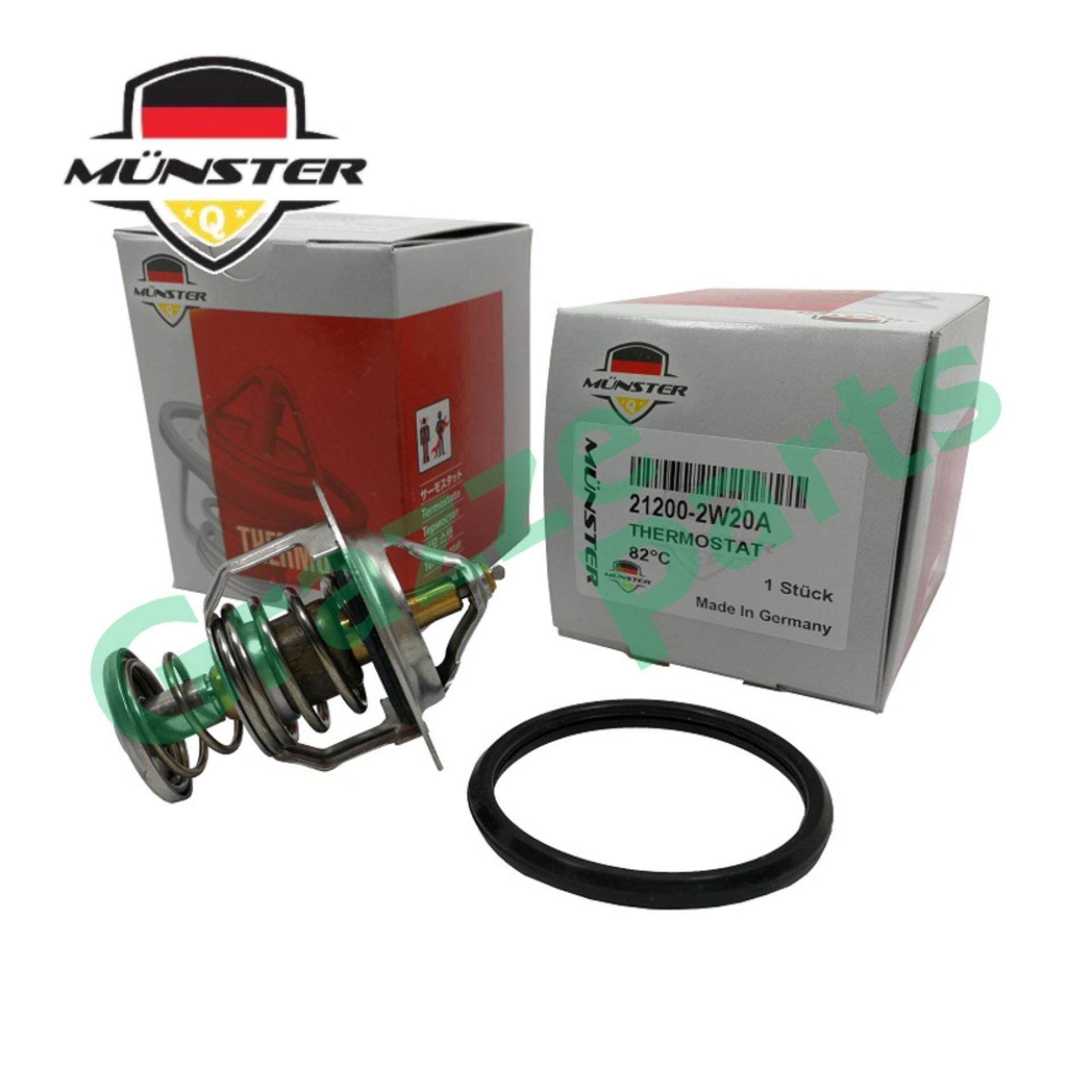Münster Coolant Thermostat + Sealing Ring for 21200-2W20A Nissan URVAN E25