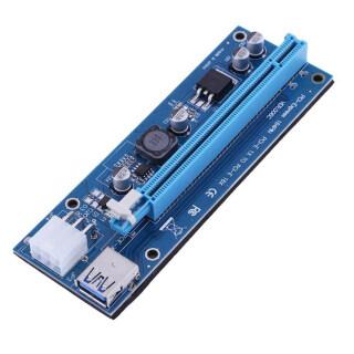 Xin VER006C USB 3.0 Cáp Mở Rộng Thẻ Express PCI-E 1X Đến 16X Kèm Đèn LED, Để Khai Thác Mỏ thumbnail