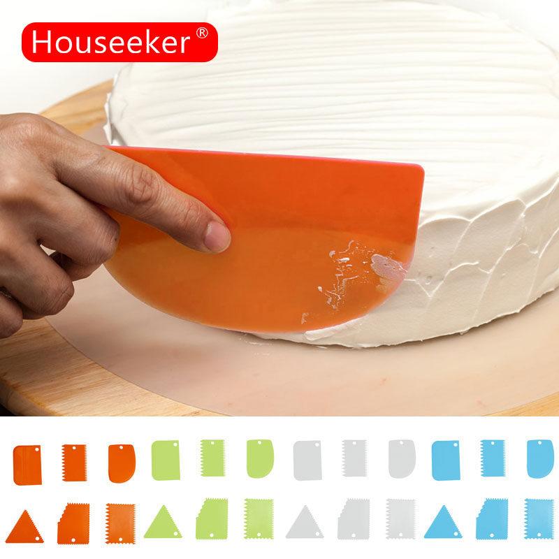 Houseeker Set 6 dụng cụ vét kem nhiều kiểu dáng tiện lợi khi làm bánh - intl