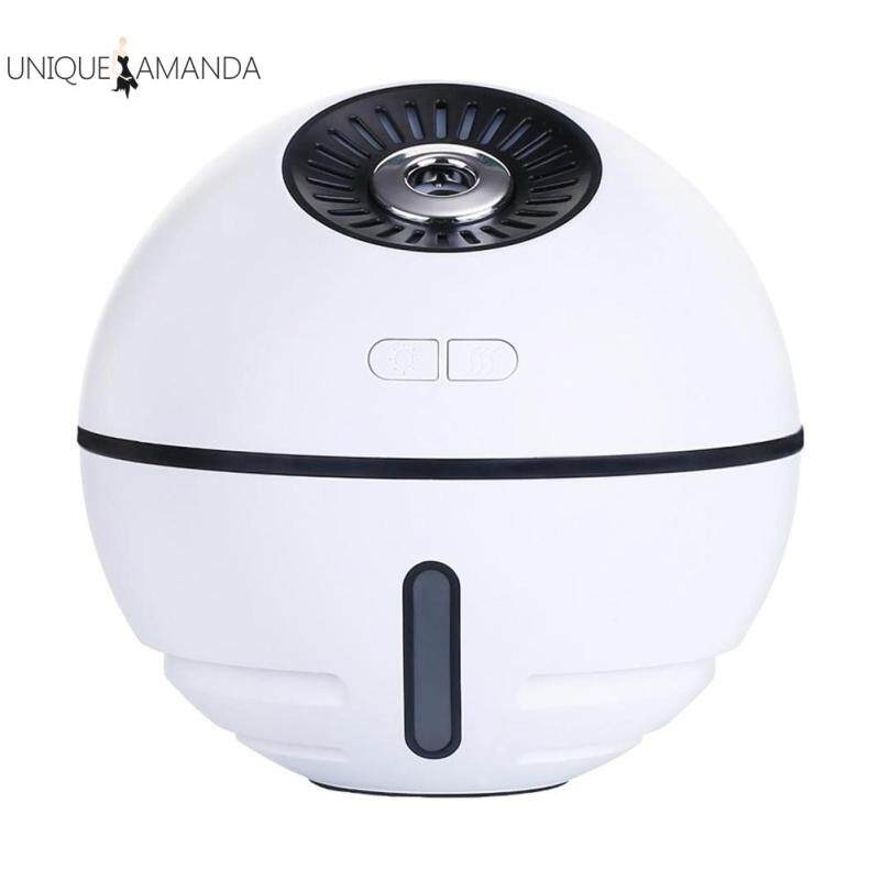 Portable 300ml Humidifier Aroma Diffuser Cool Mist Maker with Small Fan Light Essential Oil Diffuser Singapore