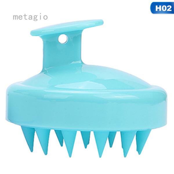 Metagio 1 Cái/bộ Lược Gội Đầu Bàn Chải Mát Xa Đầu Silicon Bàn Chải Tắm Mát Xa Da Đầu