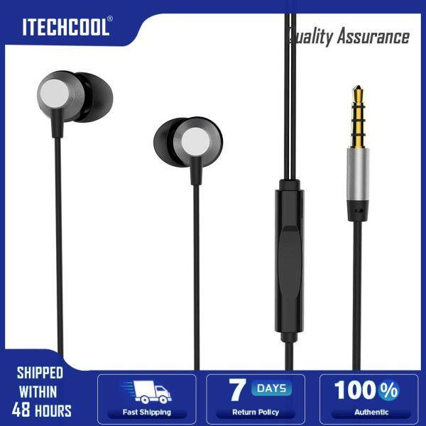 REMAX RM-512 3.5mm Wired Heavy Bass In-ear Headphones for Android iOS Phone Singapore