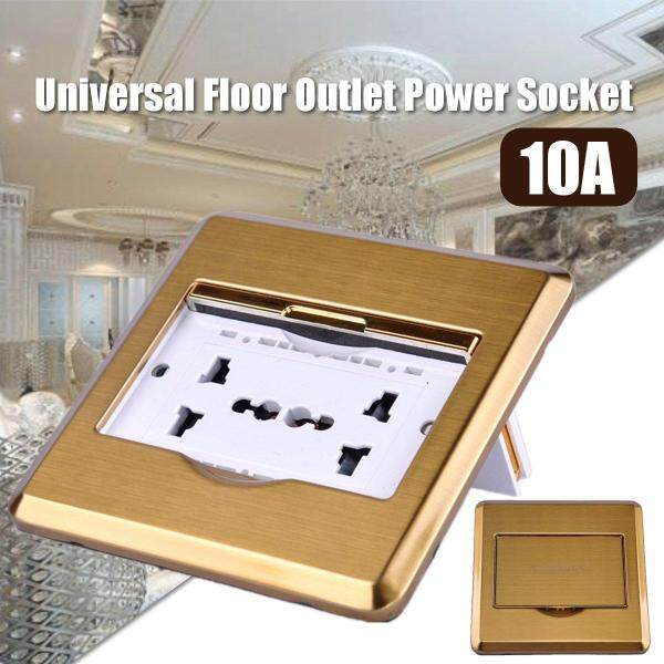 10A Universal Floor Plate Ground Outlet Duplex Power Socket Charger Receptacle -
