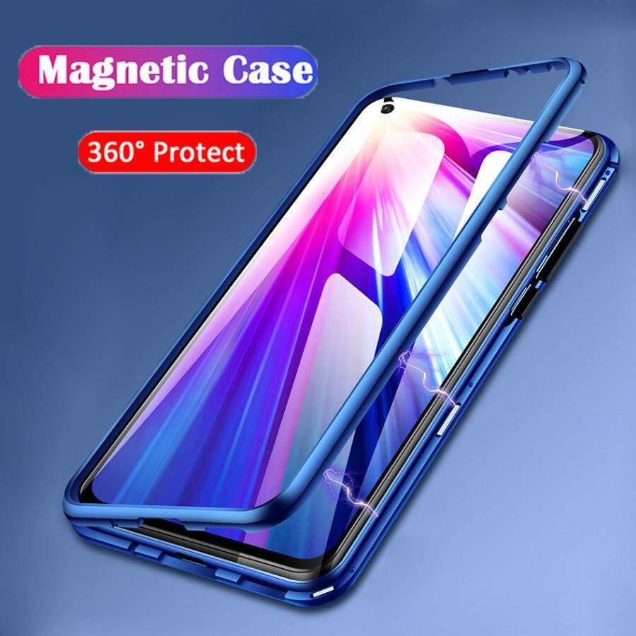 Magnetic Adsorption Flip Case For Huawei Nova 3i Clear Tempered Glass Back  Cover Metal Bumper Protective Cover For Huawei Nova3i