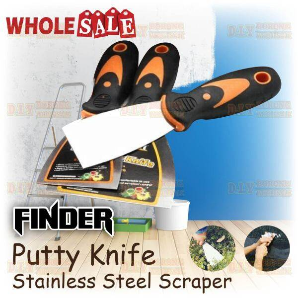 FINDER Stainless Steel Scraper and Wall Paper Scrapers
