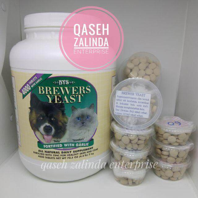 Brewers Yeast Repack 30 Biji Supplemment Kulit Dan Bulu Kucing By Qaseh Zalinda Enterprise.