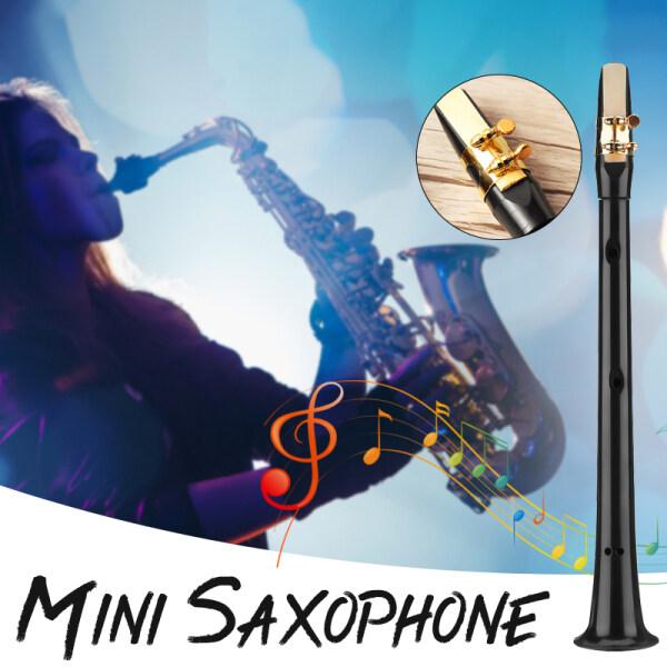 Mini Alto Saxophone Nhỏ Sax Công Cụ Nhạc Bỏ Túi C Phím Đơn Giản ABS + Carryin