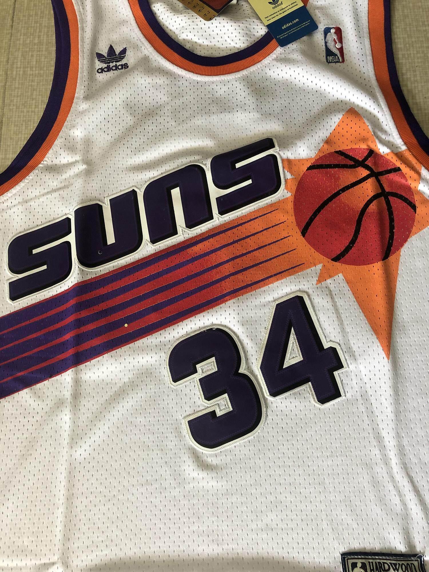 buy popular 23f59 07bb0 Mens Steve Nash & Charles Barkley Phoenix Suns Adidas_Classics Jersey -  White