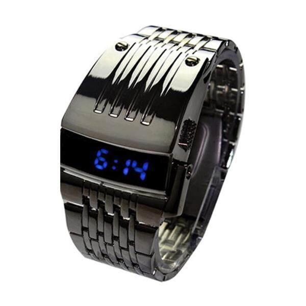 Nơi bán Đồng hồ đeo tay thời trang làm bằng thép không gỉ có đèn LED hiển thị dành cho nam - INTL