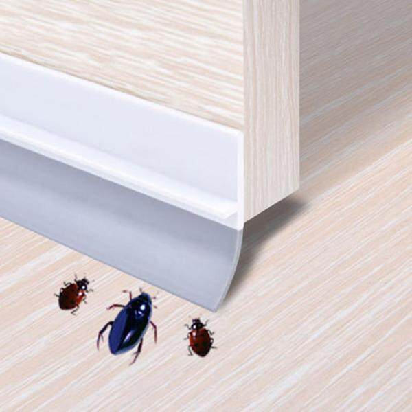 valueshopping-mal 3.6x100CM Waterproof Adhesive Under Door Sweep Weather Stripping Soundproof Rubber Bottom Seal Strip