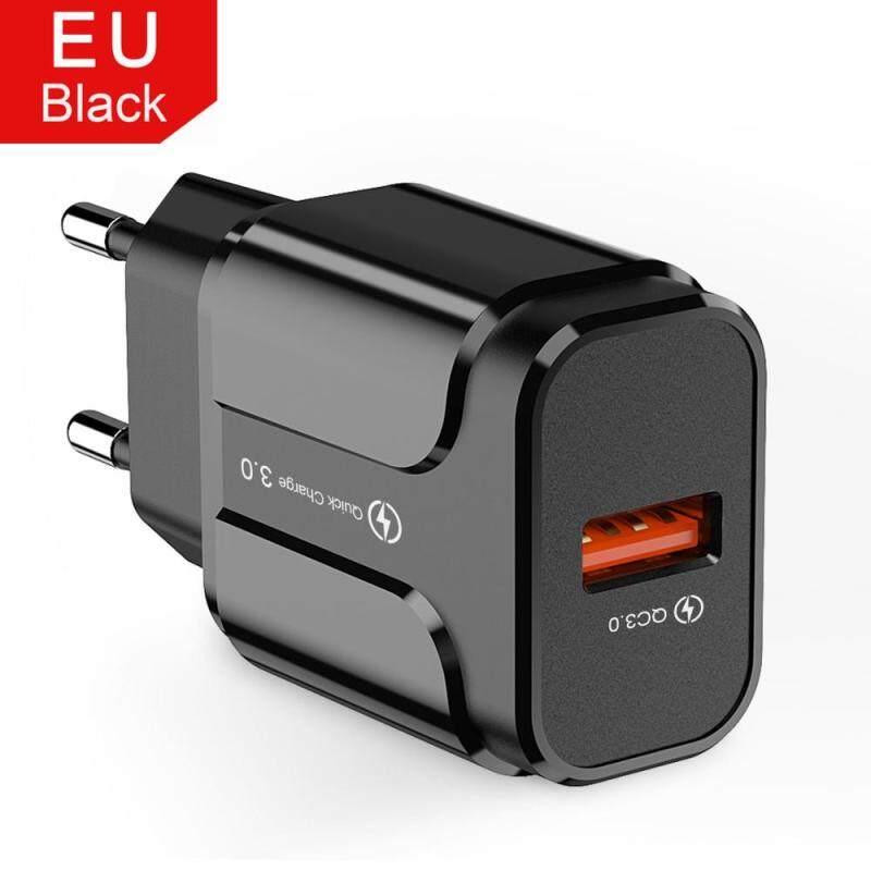 Giá 18W Sạc Nhanh 3.0 Sạc USB EU Mỹ 5V 3A Sạc Nhanh Sạc Điện Thoại Di Động Cho Iphone Huawei Samsung Điện Thoại Xiaomi Điện Thoại LG Adapter