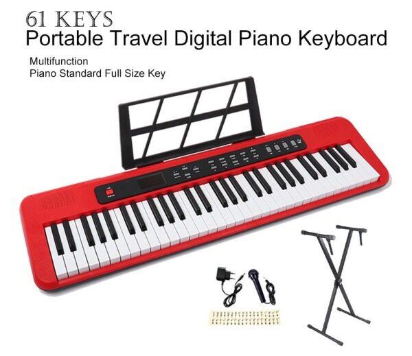 61 Keys Portable Travel Digital Piano Keyboard Electronic Piano Multifunction Good Sound Fun Playing Sustain Function Fashionable Design Space Saving Malaysia