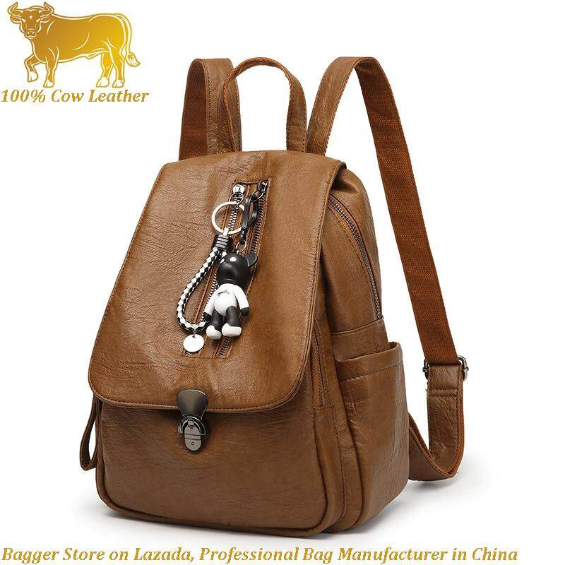 6a9b3c941e New Leather Backpack Girl Anti-Theft Korea Style Fashion Bag Travelling  Backpacks For Women Girls