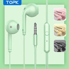 Tai nghe nhét tai TOPK F17 âm thanh nổi bass nặng có dây AUX 3.5mm dùng cho OPPO Vivo HUAWEI Xiaomi Samsung – INTL