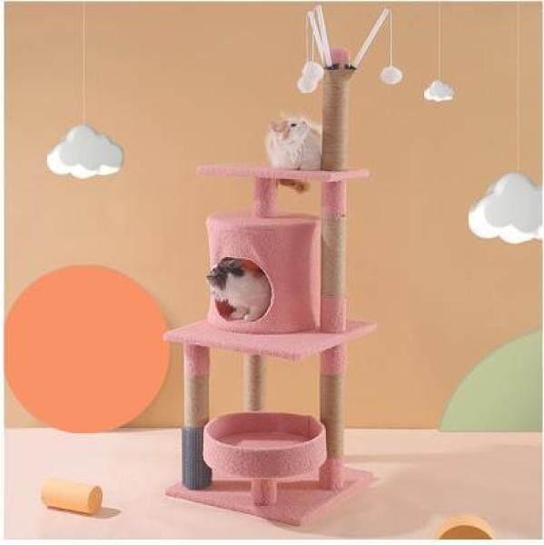 Mèo Scratcher, Đồ Chơi Cây Mèo Thú Cưng Có Trụ Cào Для Кошек Sang Trọng Nền Tảng Nhảy Leo Núi Khu Căn Hộ Đồ Chơi Bảo Vệ Đồ Đạc, Ins