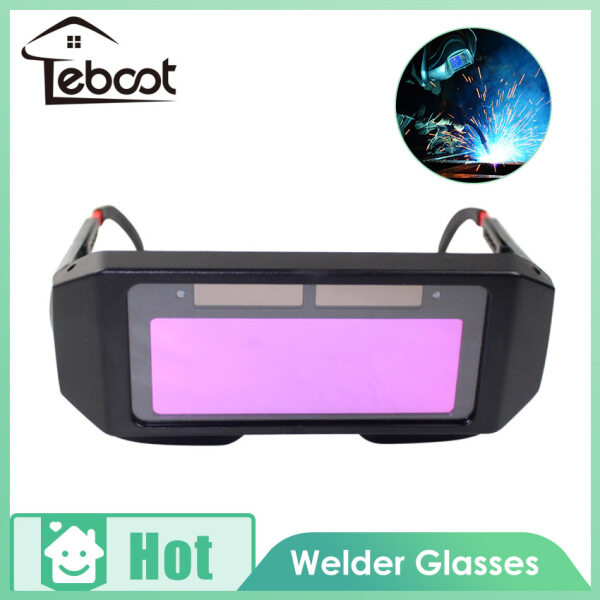 TeBoot Solar Powered Safety Goggles Welding Glasses Eye Protection Glasses Eyes Goggles Welder Glasses Auto Darkening Welding Eyewear with Free Gift