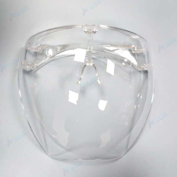 【Free Shipping With 24 H】1pcs Acrylic Full Face Shield CLEAR HD Colorful Face Shield Mask Can Wear Glass Inside Oversized Sunglasses Safety Mask Removable Nose Pads