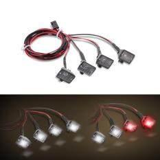 Gửi 4 Chiếc Đèn LED Vuông Đa Năng Cho Xe Hơi Điều Khiển Từ Xa Với Chao Đèn, Dành Cho Xe Địa Hình Điều Khiển Từ Xa 1/10 Xe Hơi TRX-4 HSP REDCAT Axial SCX10 Traxxas