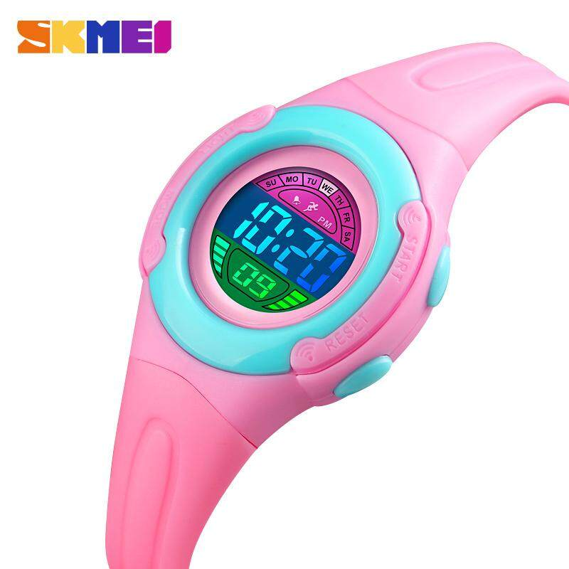 SKMEI New Fashion ChildrenS Watch Kids Watches Jam Tangan kanak kanak Waterproof Alarm LED Backlight Children Watch Sports Digital Wristwatch Malaysia