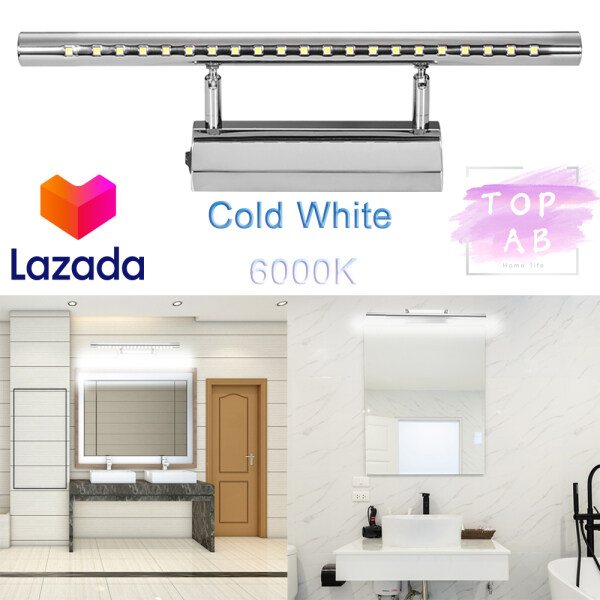 7W  Cold White 6000K 55cm 5W 40cm LED Mirror Front Light Bathroom Wall Light Modern LED Bathroom Mirror Light Make-up Bath Over Mirror Lamp with Switch