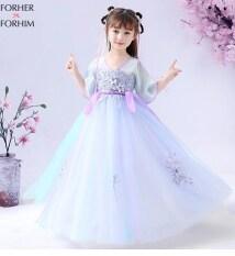 Đầm Dài Tay FORHER FORHIM 2020 Cho Trẻ Em Bé Gái Hán Phục Phong Cách Trung Quốc Siêu Cổ Tích Váy Dài Tay Miễn Phí Vận Chuyển FH0318