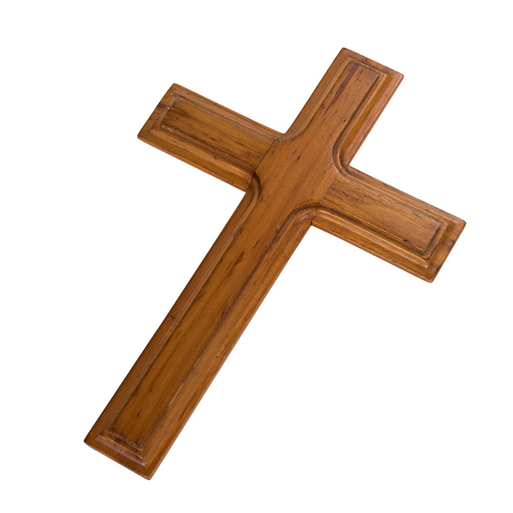 FIRLAR Wood Wall Mounted Cross Wooden Wall Cross Ideal Gift Decoration for Home Weddings Party Meditation
