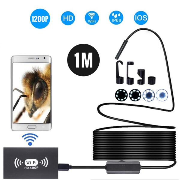 Bảng giá Camera Nội Soi Không Dây 8Mm IP68 Kính Ngắm Cáp Bán Cứng LED 2.0MP HD 8 Kiểm Tra WiFi Chống Nước Dành Cho iPhone iPad Thiết Bị Android Và PC 1M Màu Vàng
