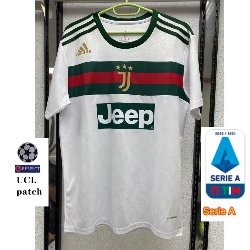 High Quality 2020 21 Juventus Gucci White Special Edition Training Uniform Jersey Lazada Singapore
