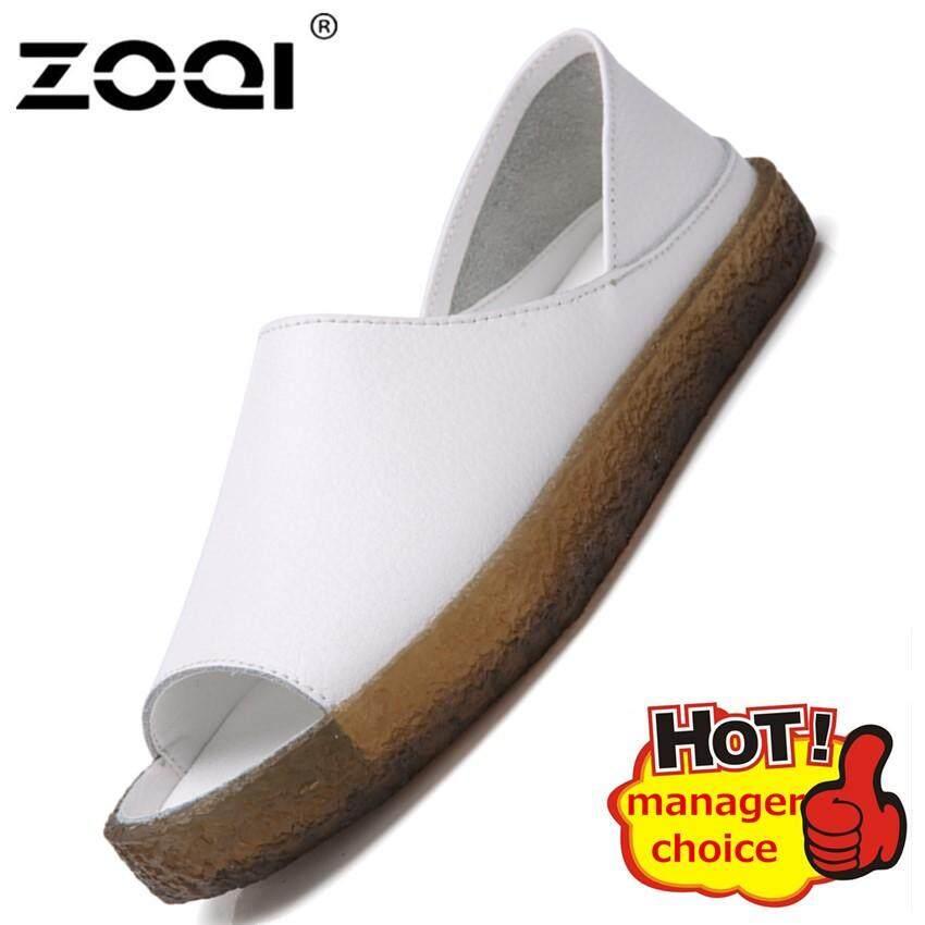 Zoqi Sandal Hot Jual Sandal Musim Panas Fashion Wanita Open-Toe Sendal Datar Sepatu Wanita