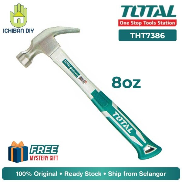 Total Claw Hammer 8oz THT7386 Tukul Besi Kuku Kambing Tools Toolset [ichiban DIY]
