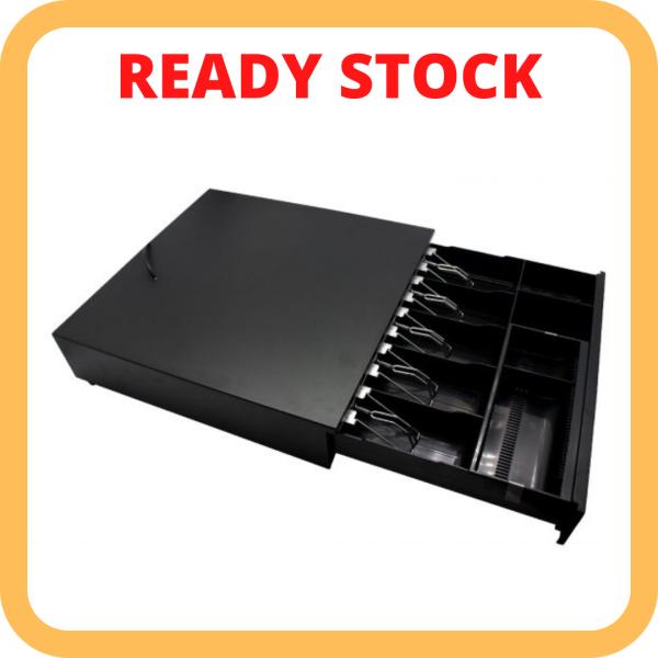 [Ready Stock] Heavy Duty Cash Drawer Register Box RJ11 Key Lock Secure Your Cash POS System Drawer