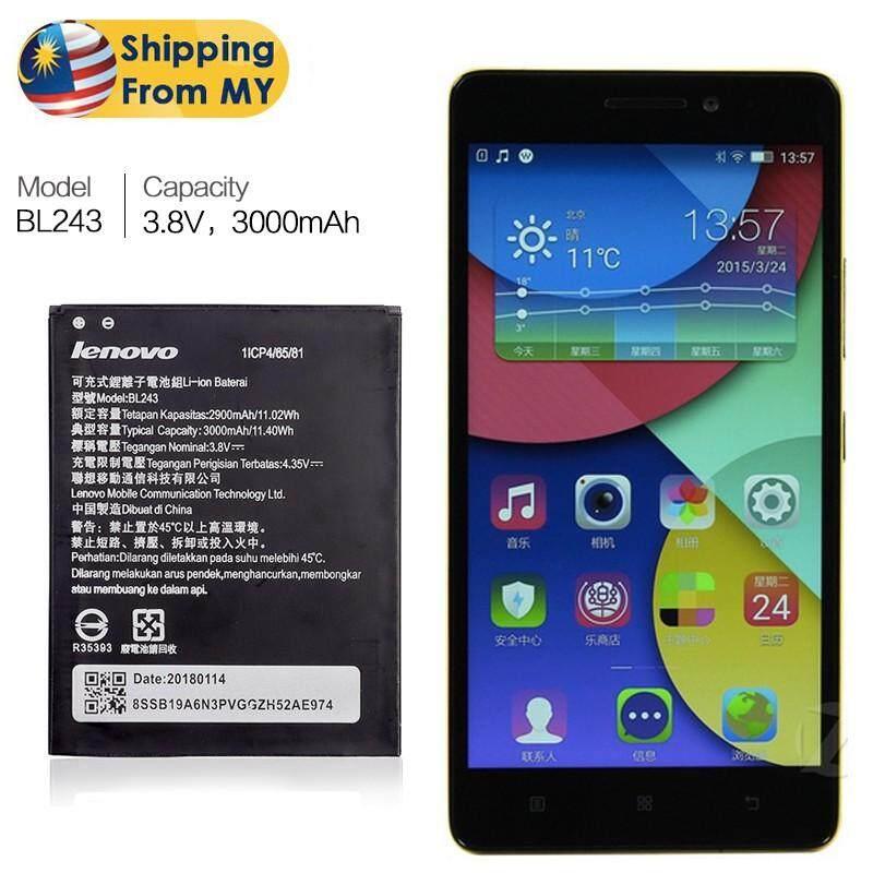 Battery Lenovo K3 Note K50 A7000 A5500 A5600 A7600 3000mAh BL243 Original  Quality