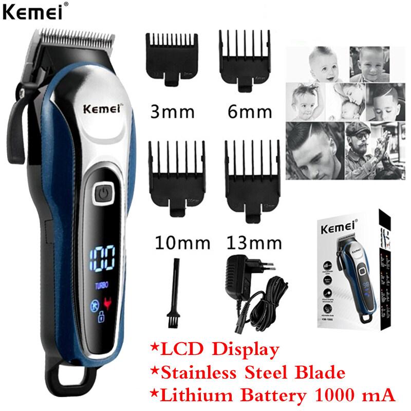 Kemei KM-1995 LCD Monitor Charging Hair Clipper For Men Professional Hair Salon Hair Clipper