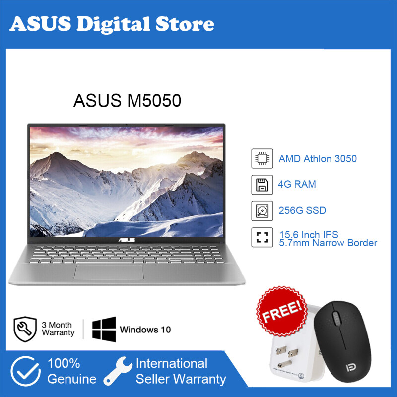 ASUS M5050 2020 new model AMD Athlon 15.6-inch Lightweight Laptop Using for Student Office Business portable (dual-core 3050/8G/256G SSD)Silver Color Malaysia