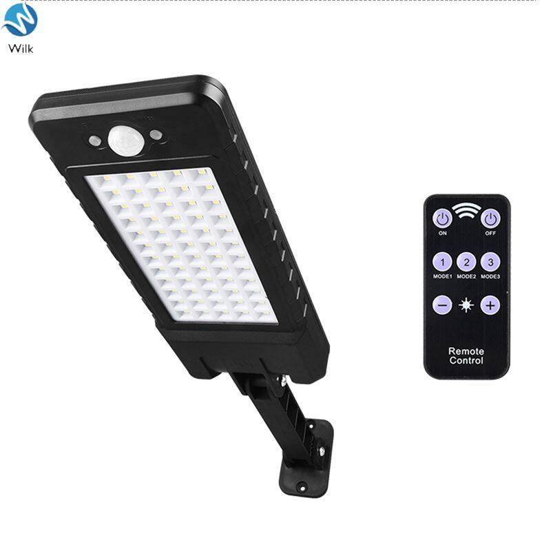 Lampu Jalan LED tenaga surya tahan air, Wilk 60LED/120COB lampu dinding Sensor PIR induksi manusia, lampu jalan raya, taman industri COB
