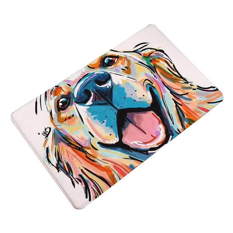 Colorful Dog Welcome Floor Indoor Outdoor Non-Slip Door Mat Rug size 40x60cm (1#)