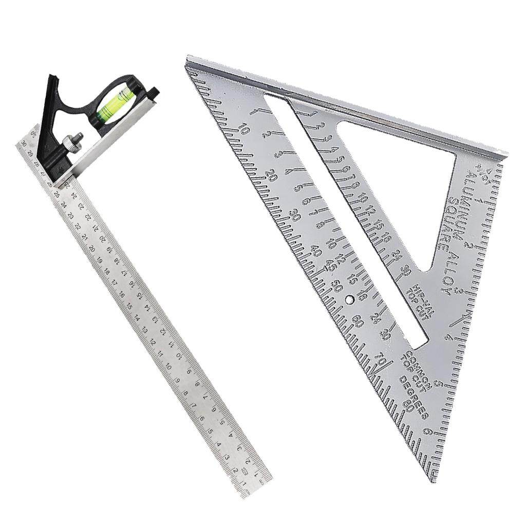 BolehDeals Measuring Square Triangle Ruler Engineers Combination Right Angle Ruler