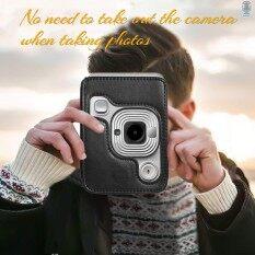 Túi đựng máy ảnh tức thời kích thước nhỏ gọn Túi da PU có dây đeo vai Tương thích với FujiFilm Fuji Instax Mini liplay